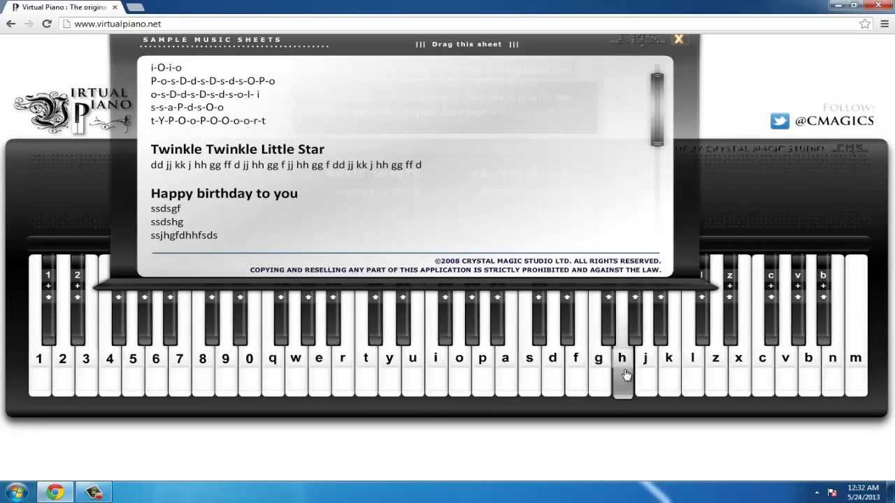 How to Play the Piano via Computer Keyboard! - YouTube