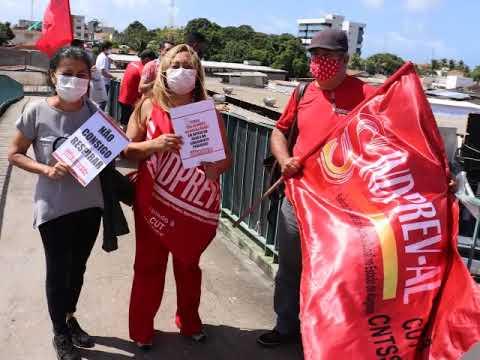 Ato: Defesa da Democracia, Saúde Pública, contra privatização da Casal,  defesa das vítimas do Covid