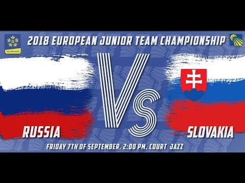Russia vs Slovakia - Day 1 - 2018 European Jnr. Team C'ships