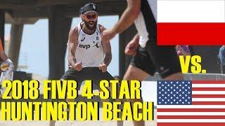 McKibbin/McKibbin (USA) vs. Prudel/Szalankiewicz (POL) WITH SLO-MO FIVB 4-Star Huntington Beach 2018