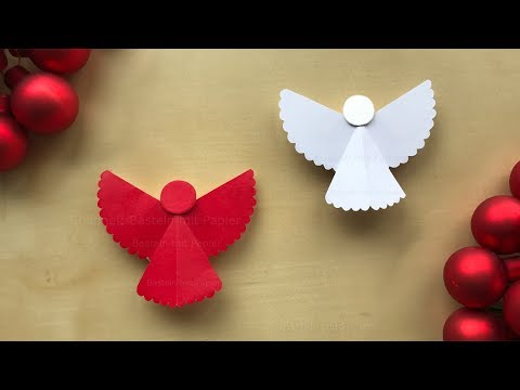 Basteln Weihnachten: Engel basteln mit Papier. Weihnachtsdeko selber machen - Weihnachtsgeschenke