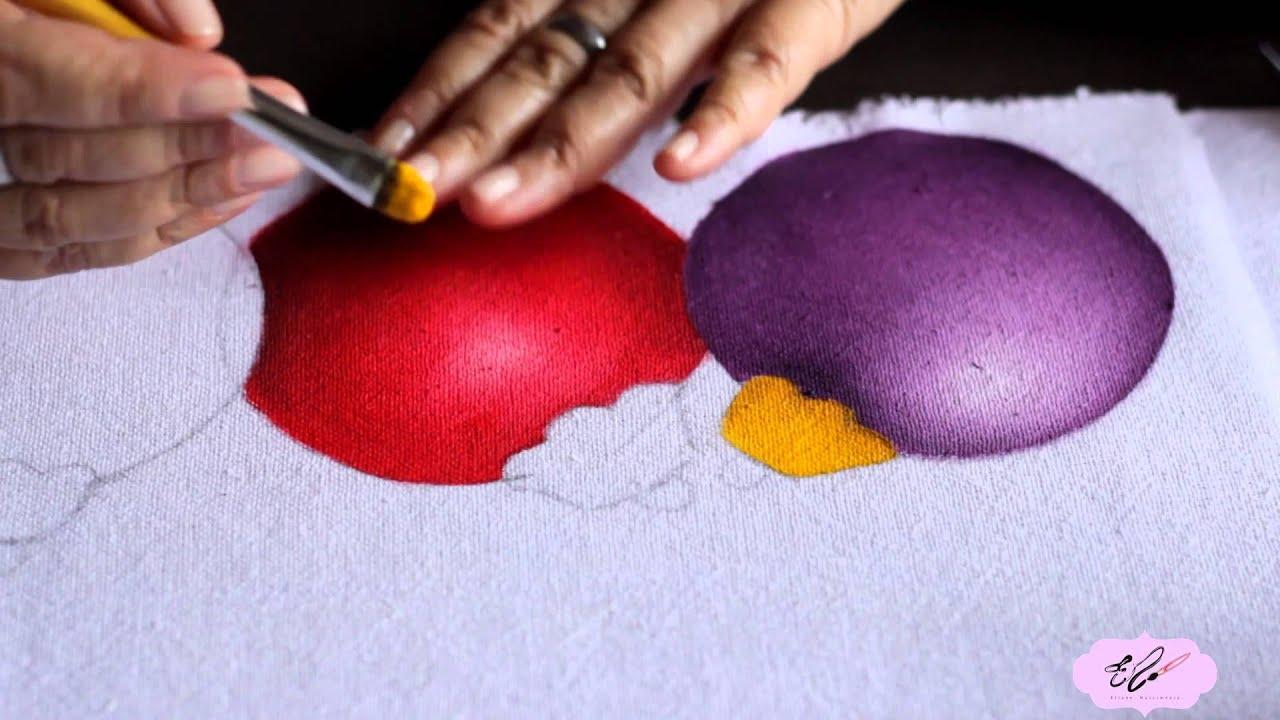 Pintura Em Tecido Eliane Nascimento Bola De Natal Youtube