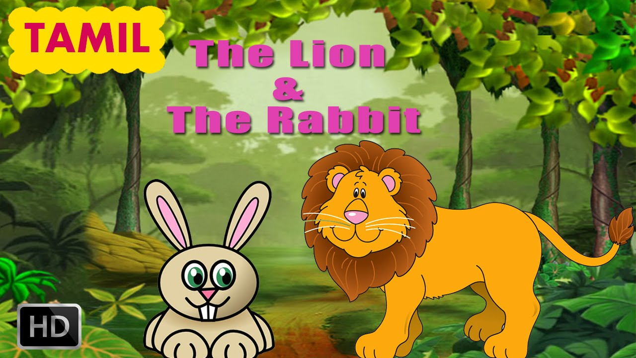 a503b644 Panchatantra Stories - The Lion & The Rabbit - Tamil Moral Story for  Children - Animated Cartoons