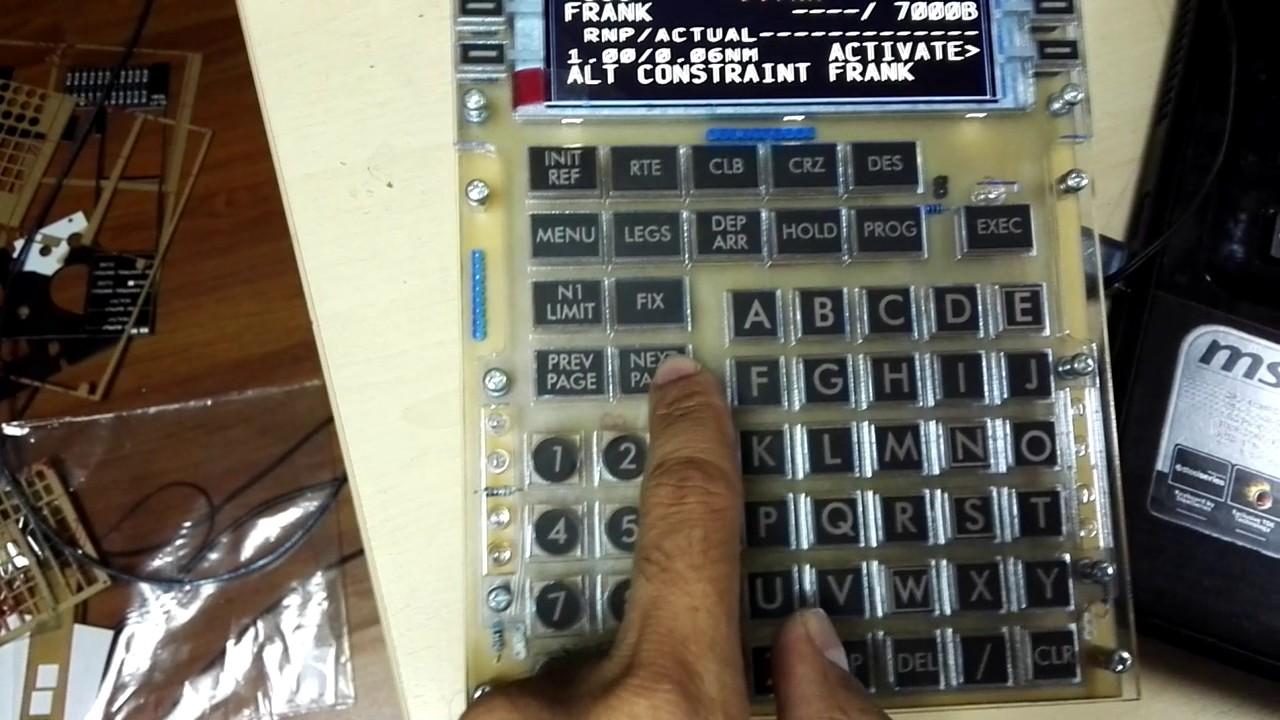 MCDU Enlightenment - Interfacing FSX or X-Plane