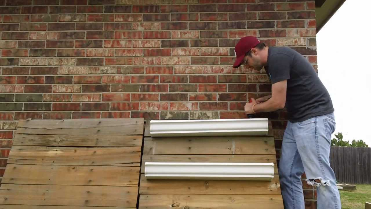 How to make a vertical gutter garden youtube