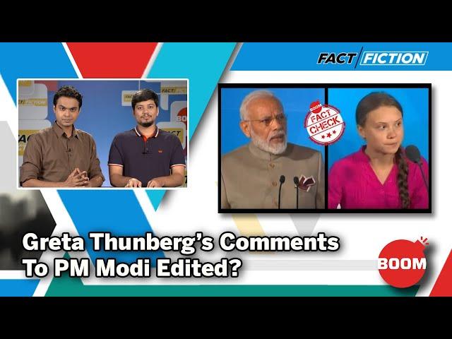 Greta Thunberg's Comments To PM Modi Edited?