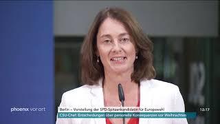 Vorstellung von Katarina Barley als Europa-Spitzenkandidatin der SPD am 17.10.18