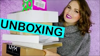 BIG UNBOXING!! What's in my Mail? New in Makeup & Beauty