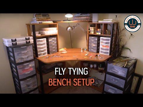 Fly Tying Bench Setup