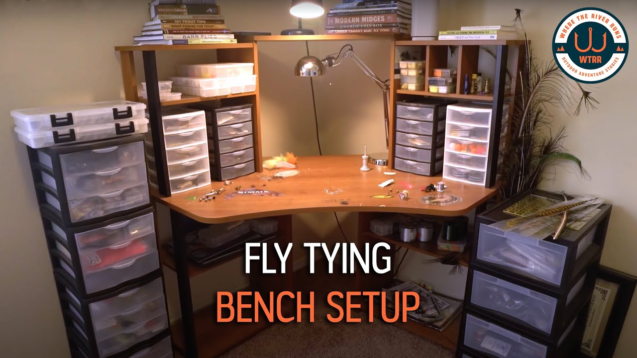 Lovely Fly Tying Bench Setup