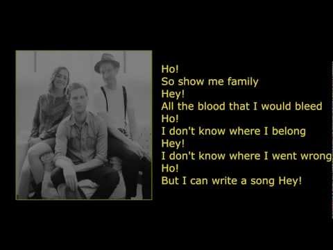 The Lumineers - Ho Hey [lyrics]
