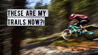 Our new BACKYARD TRAILS are INSANE.