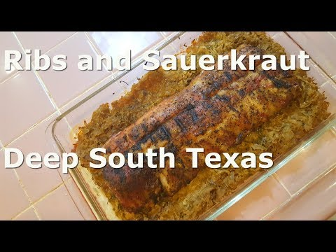Ribs And Sauerkraut, Simple, Easy And Good.