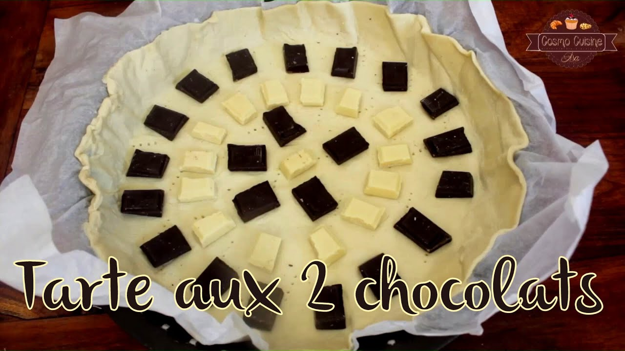 tarte aux 2 chocolats youtube. Black Bedroom Furniture Sets. Home Design Ideas