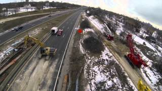 Adamo Group - Demolition of I-94 bridge @ W Grand Blvd - Detroit Drone Aerial Video