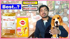 Pedigree v/s Royal canin || best dog food 🍲 with 100% proof.