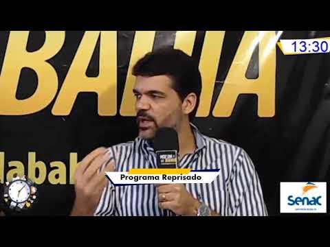 Meio-Dia e Meia Live hoje prefeito de Santo Antônio de Jesus, Rogério Andrade (programa Reprisado)