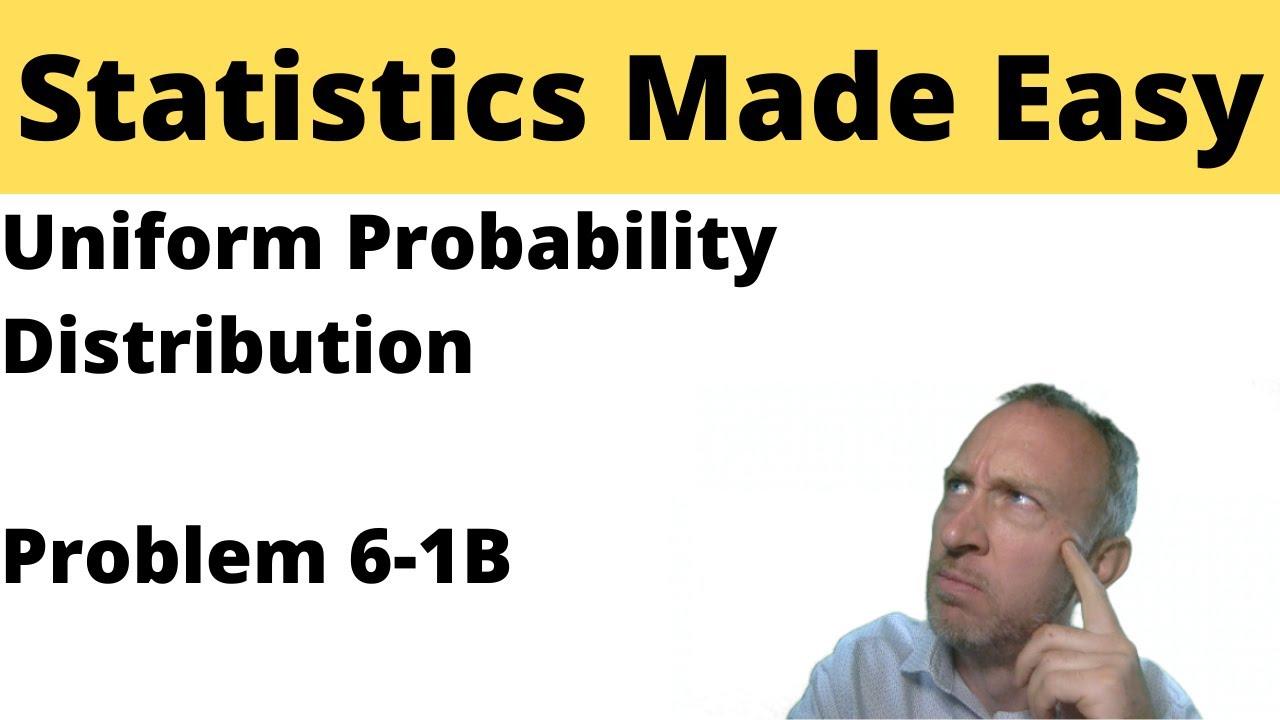 how to solve uniform distribution problems