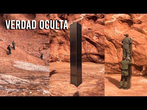 """ENCUENTRAN EXTRAÑO """"MONOLITO"""" EN UNA ZONA REMOTA DE UTAH PARECIDO A 2001 ODISEA EN EL ESPA"""