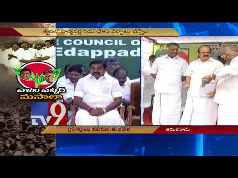 AIADMK camps merge, OPS to be CM EPS'...