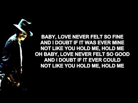Michael Jackson ft Justin Timberlake - Love Never Felt So Good | Lyrics on Screen