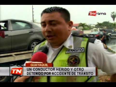 Un conductor herido y otro detenido por accidente de tránsito