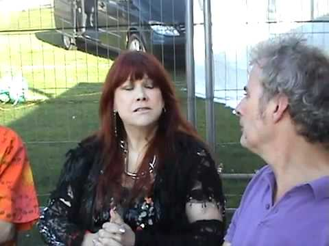 Pete Feenstra interviews Curved Air's Sonja Kristina and Paul Sax at High Voltage Festival, 24.07.11