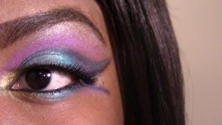 Tropical Night Burst: Blue Purple and Gold Makeup Tutorial Thumbnail