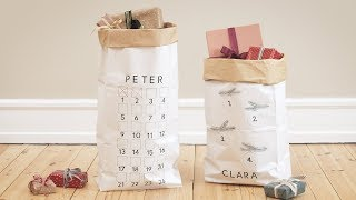 DIY : Make a personalised Christmas gift bag for advent gifts by Søstrene Grene