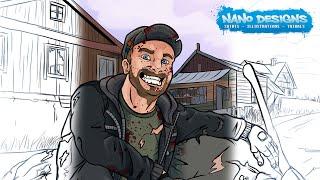 Survivor Bennie - Illustration Speedup - DayZ themed