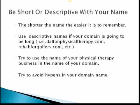 How To Pick A Domain Name For Your Physical Therapy Business