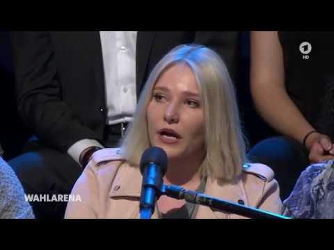 Ganze Sendung  Die ARD -  Wahlarena mit Angela Merkel am 11. September 2017
