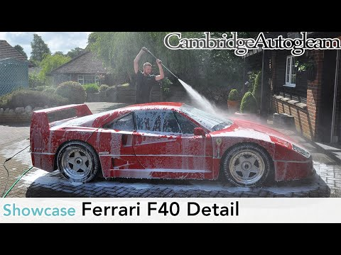 Ferrari F40 - Full Correction Detail by Cambridge Autogleam