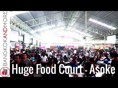 Huge Food Court at Asok Montri Rd. Bangkok - All Variations Of Thai Food