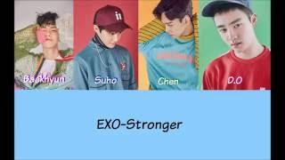 EXO-Stronger Lyrics (Eng/Rom/Han)