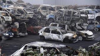 Во Франции в новогоднюю ночь массово сжигали машины