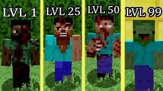 ⚠️ NÍVEIS DO ZUMBI - MINECRAFT ⚠️