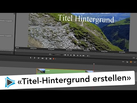 Titel Hintergrund Grafik definieren in Pinnacle Studio Deutsch Video Tutorial
