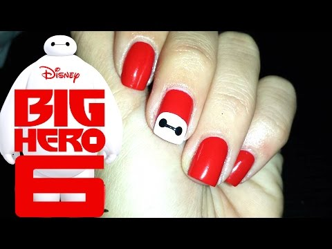 big hero 6 nail art