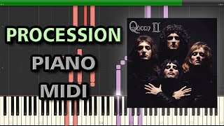 Procession - Queen | Synthesia + MIDI 🎵