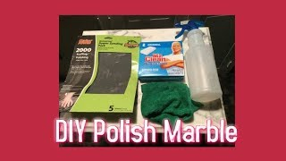 How to Clean Dirty Marble *Marble Cleaning Hack! *No Damage Trick #marble