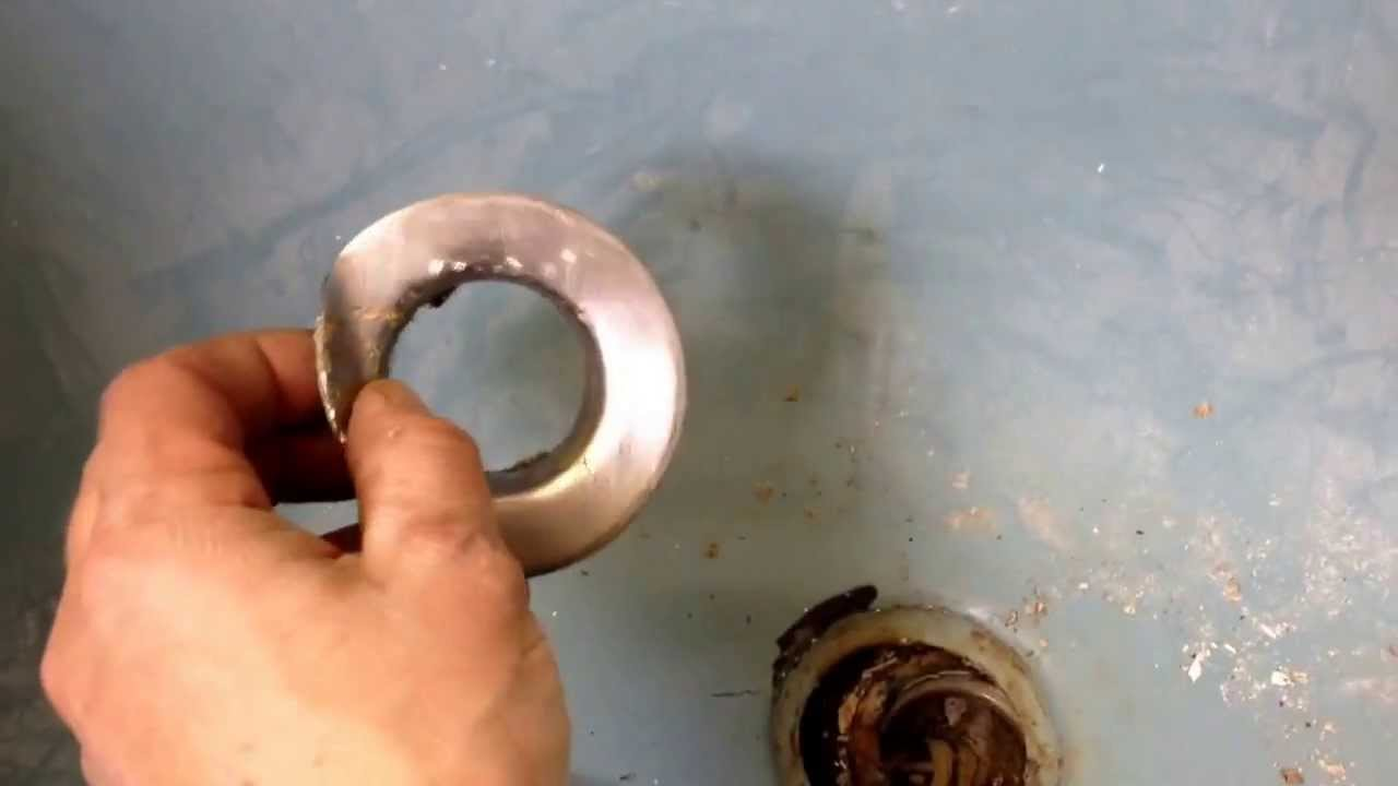 Successfully Removing An Old Tub Drain!!!!   YouTube