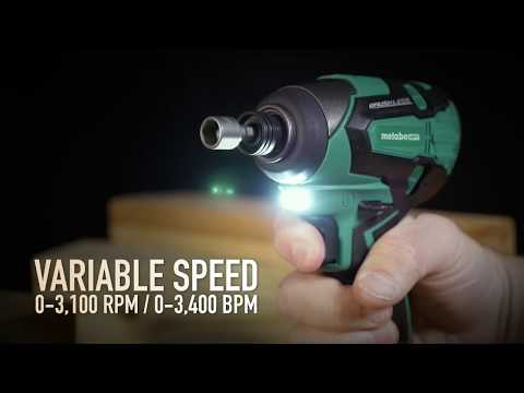 Metabo HPT WH18DBFL2S 18V Lithium Ion Brushless Impact Driver with 1 Battery