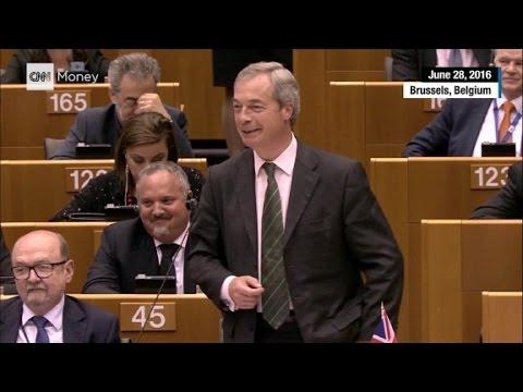 Brexit leader booed at EU parliament