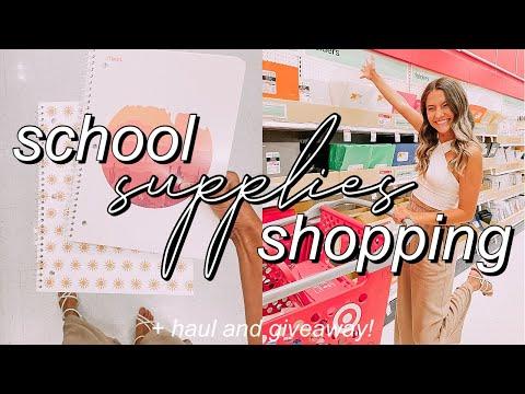 SCHOOL SUPPLIES SHOPPING + HAUL 2021 (GIVEAWAY!) | college student necessities!
