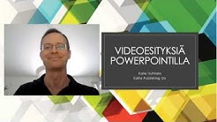 Näin teet videoluennon PowerPointilla / How to make a video lecture using PowerPoint