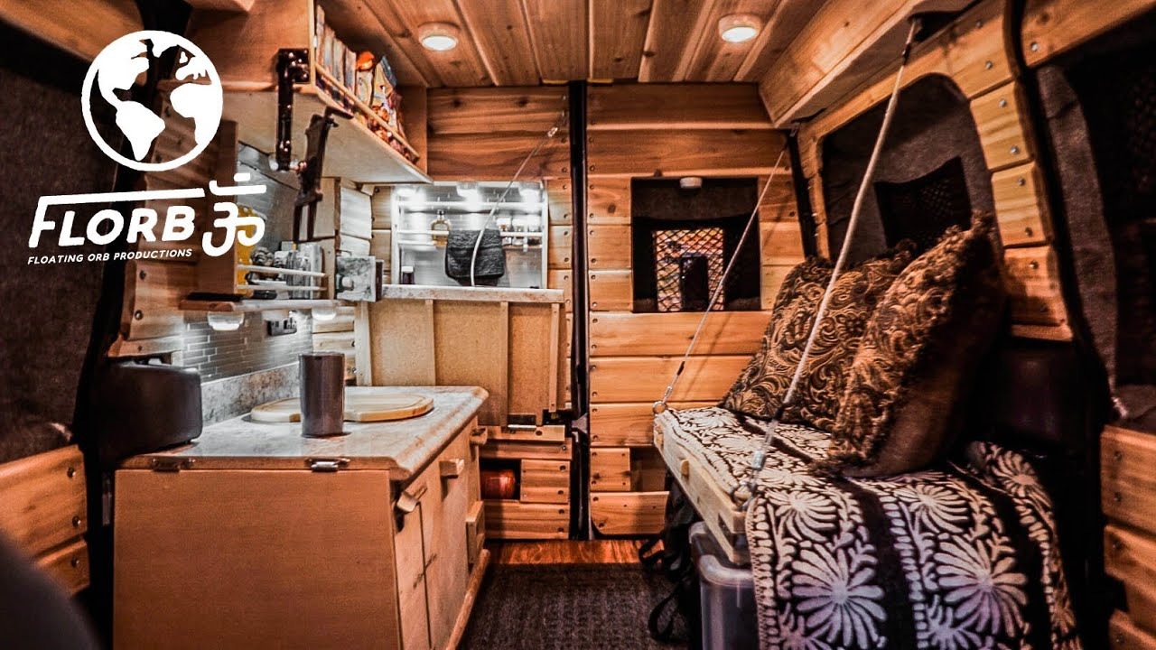 Stealth Van Conversion Has Different Space Saving Ideas Youtube