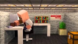 Офис жителей Minecraft мультики,приколы!!!