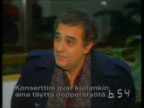 Placido Domingo interview by Tomi Lindblom (1992) / Finland