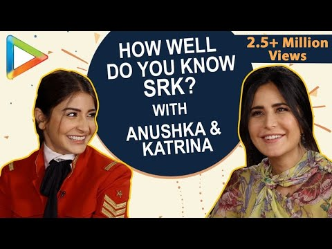 CRAZY: Katrina Kaif & Anushka Sharma Playing SRK QUIZ is a Laugh Riot | Zero